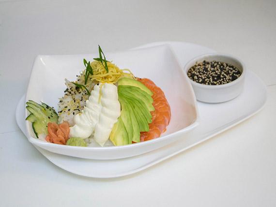 Sushi al plato - Salmón
