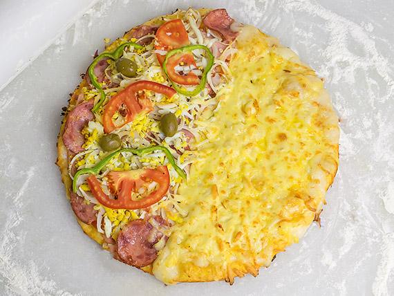 Pizzas meio a meio família