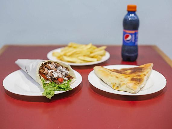 Promo 1 - Shawarma + papas fritas + fatay + gaseosa 250 ml