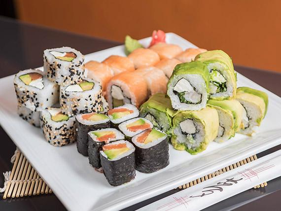 Combinado Kurusake 4 - Hosomaki + California roll + avocado roll + sake roll