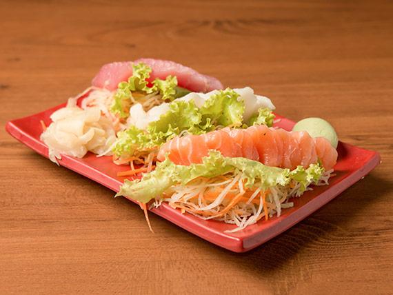 Sashimi simples (16 unidades)