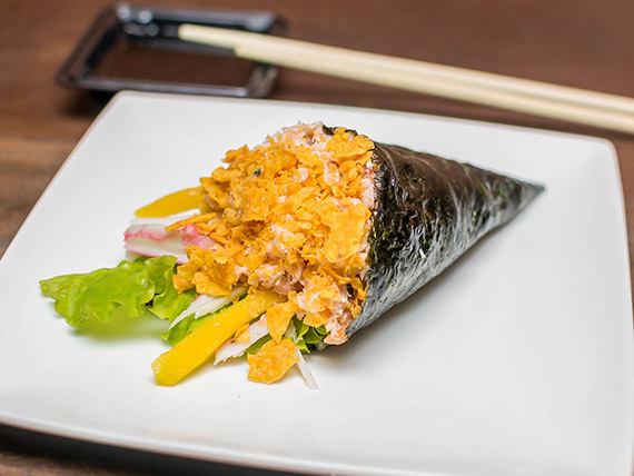 Temaki salmão grelhado