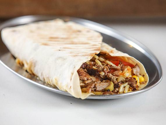 Shawarma de novillo y cerdo