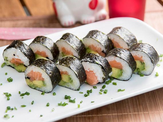 3 - Nori roll salmón y palta (8 piezas)