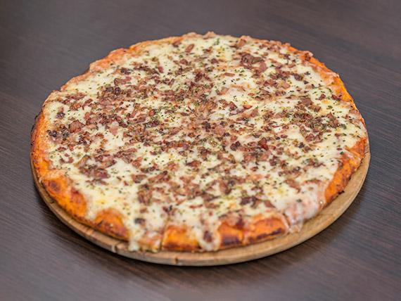 Pizzeta muzzarella con panceta