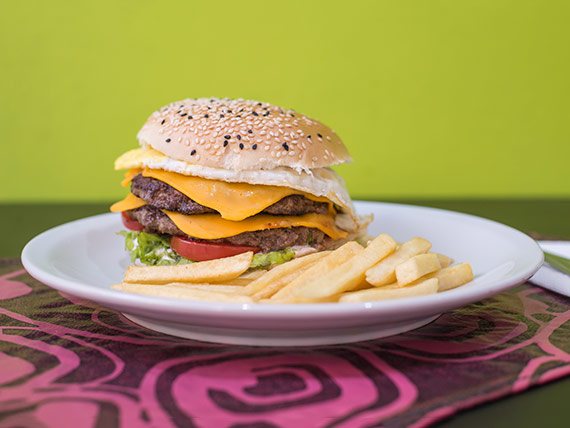 Hamburguesa cheese premium