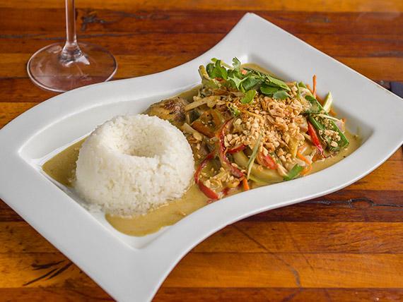 Tofu curry vegetales