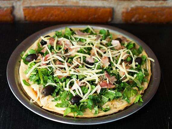 Pizza rúcula con panceta