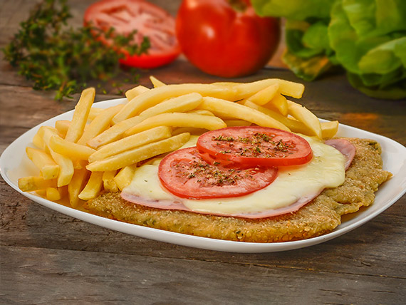Milanesa napolitana simple de ternera o pollo