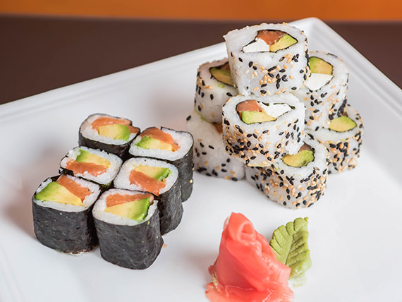 Combinado Kurusake 1 - Hosomaki + California roll
