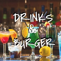 Drinks & burger